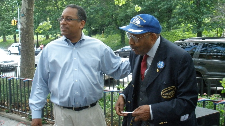 Dr. Keith Taylor with honoree Airman Montgomery (G Hazard)